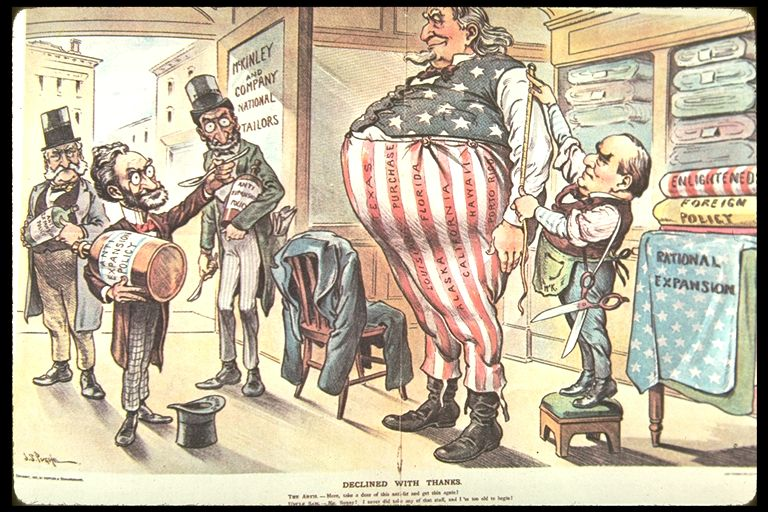 American Imperialism Political Cartoon Uncle Sam